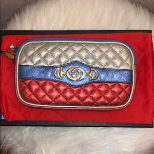 Authentic Gucci Trapuntata Wristlet